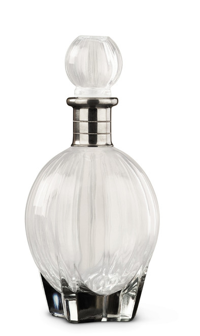 Menorca Glass/Pewter Decanter