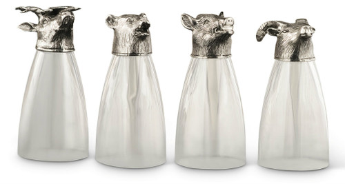 Pewter Animal Beer Glasses (Set of 4)