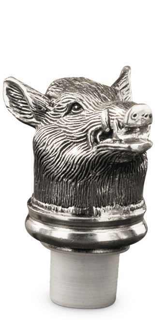 Pewter Boar Bottle Stopper Height 3 inches
