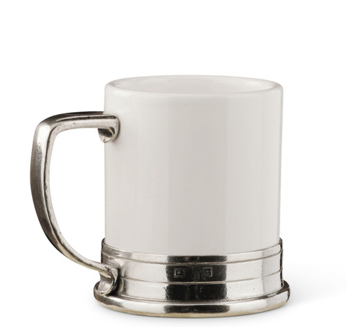 PEWTER ITALIA Porcelain Mug Diameter 6.7 inches