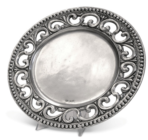 'Donatello' Pewter Platter Dia: 13.5""