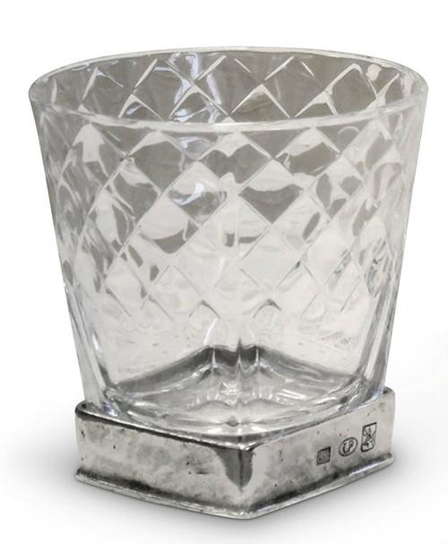 Diamonds Drink Glass-Pewter
