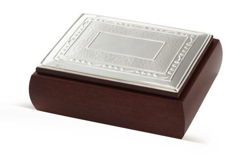 CUNILL Sterling Silver & Wood Blacksmith Box