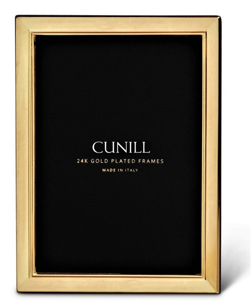 Cunill 'Metropolis' 5x7 Engravable Gold Plated Picture Frame