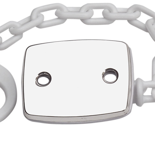Engravable 'Plain Rectangle' Sterling Silver Baby Pacifier Clip