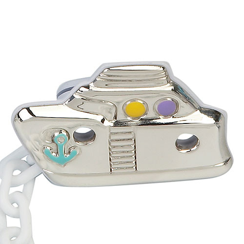 'Sailor' Sterling Silver Baby Pacifier Clip (Color)