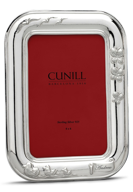 CUNILL Sterling Silver Spring Day 4x6 Monogramming Picture Frame