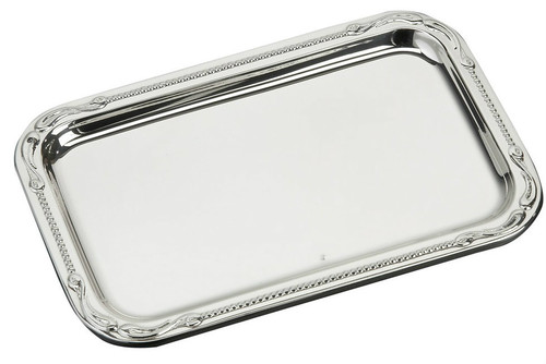 "Sterling Silver Pearls Tray (5.5"" x 3.5"")"