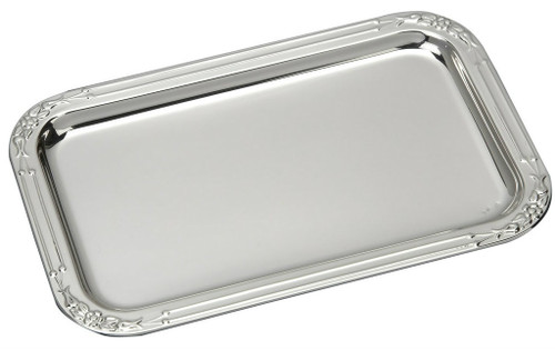 """Sterling Silver Floral Tray (5.5"""" x 3.5"""")"""
