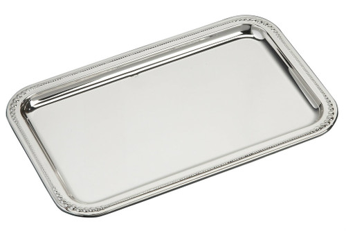 "Sterling Silver Large Pearls Tray (7"" x 4.5"")"