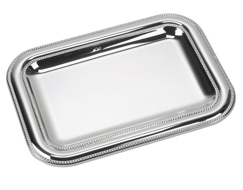 "Sterling Silver Wide Double Bead Tray (7"" x 5"")"