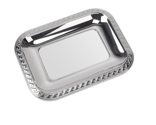 "Sterling Silver Waves Tray (4"" x 3"")"