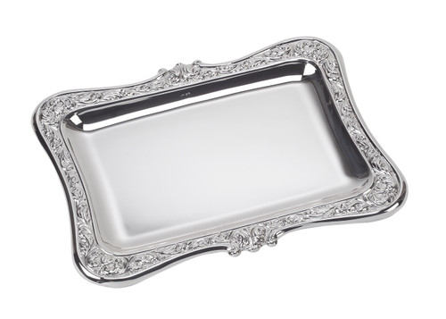 """Sterling Silver Baroque Tray (8.5"""" x 6.5"""")"""