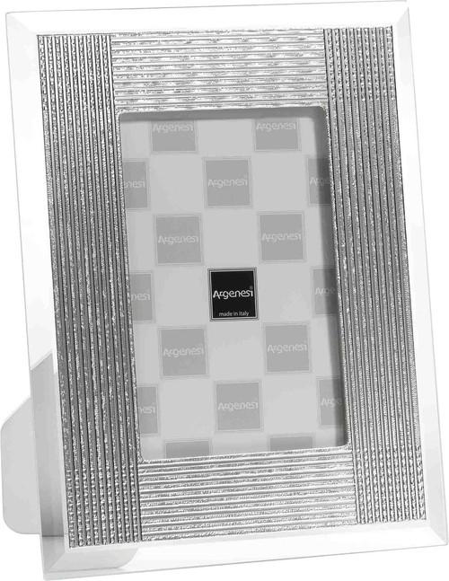 ARGENESI 999 Silver/Glass 'Batik' 5x7 Picture Frame