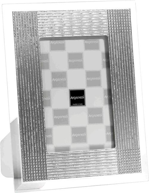 ARGENESI 999 Silver/Glass 'Batik' 8x10 Picture Frame
