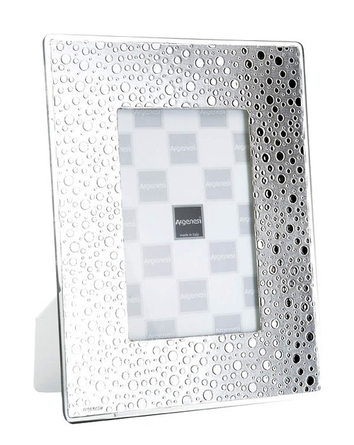 ARGENESI 999 Silver/Glass 'Raindrops' 4x6  Picture Frame