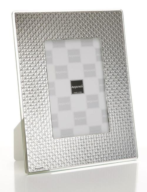 ARGENESI 999 Silver/Glass 'Diamonds' 4x6 Picture Frame