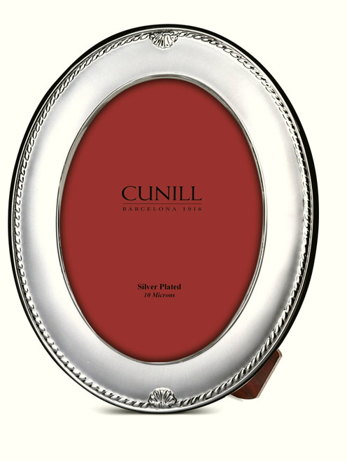 Cunill Oval Shells 8x10 Silver Plated Picture Frame