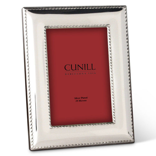 Cunill Nautical 4x6 Silver Plated Picture Frame