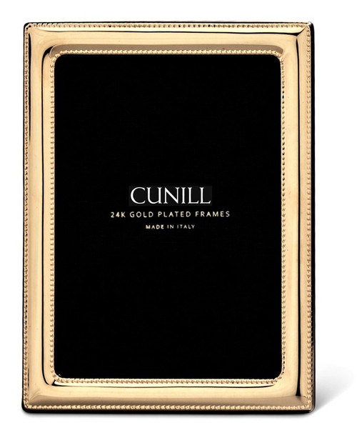 Cunill 'Pearls' 8x10 Gold Plated Picture Frame