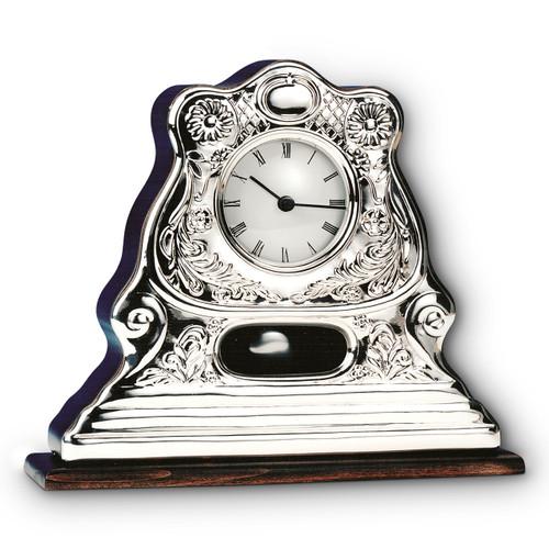 "CUNILL Sterling Silver 9.5"" x 8.5"" Pendulum Clock"