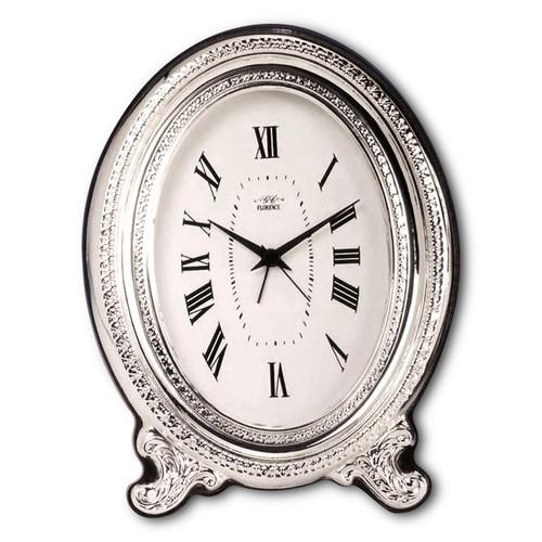 'Ovale' 2.5x3.5  Non-Tarnish Sterling Silver Clock