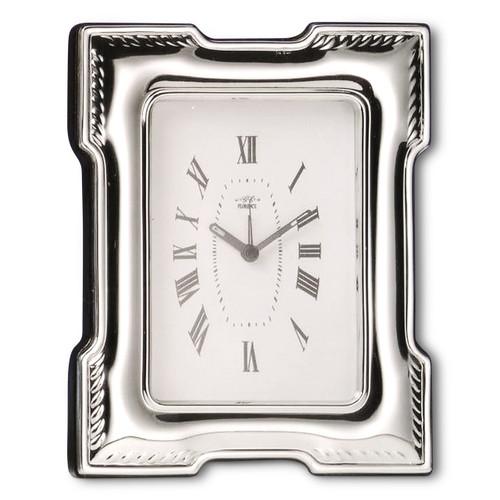 'Jefferson' 3.5x5  Non-Tarnish Sterling Silver Clock