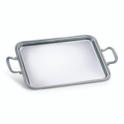 "BICAMA Sterling Silver English Rectangle Tray w/ Handles (16"" x 12"")"