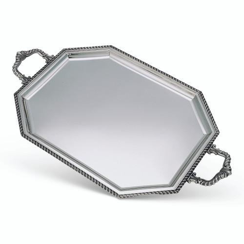 "BICAMA Sterling Silver Queen Anne Octagonal Tray w/ Handles (18"" x 14"")"