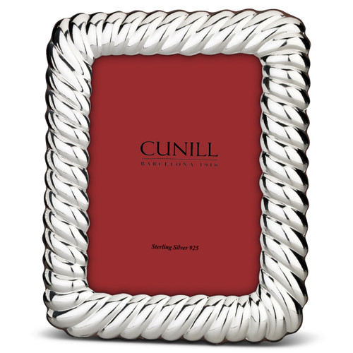 'Shell Wide' 4x6  Non-Tarnish Sterling Silver Picture Frame