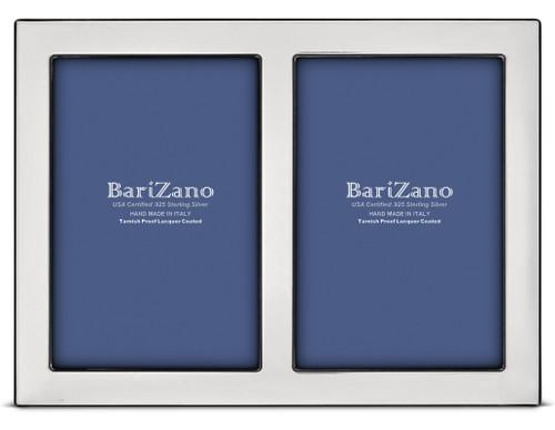 Engravable 'Ferrara Double' 4x6 Non-Tarnish 925 Sterling Silver Frame