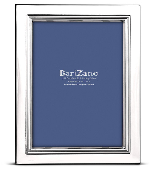 Engravable 'Lisbon' 4x6 Non-Tarnish 925 Sterling Silver Frame
