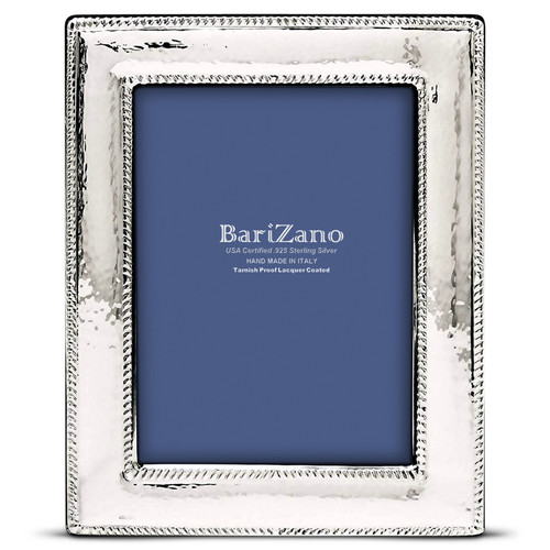 'Nautical' 5x7 Non-Tarnish 925 Sterling Silver Frame