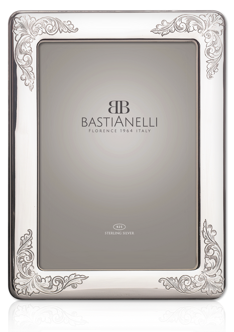 Engravable Bastianelli 'Incisa' 4x6 Sterling Silver Picture Frame