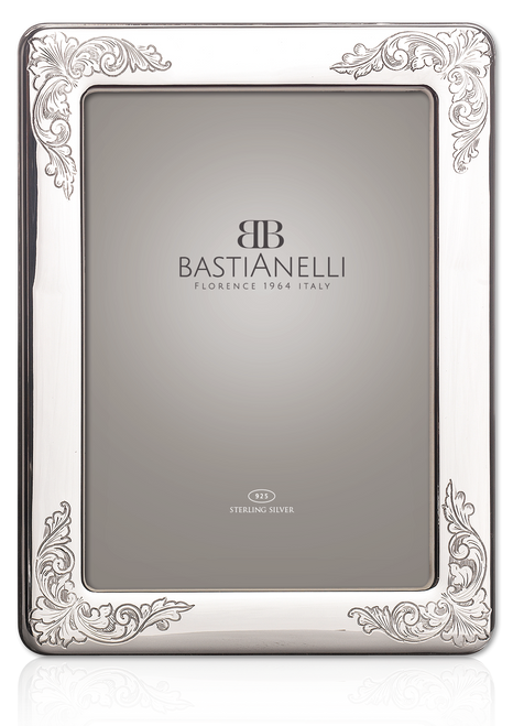 Engravable Bastianelli 'Incisa' 5x7 Sterling Silver Picture Frame