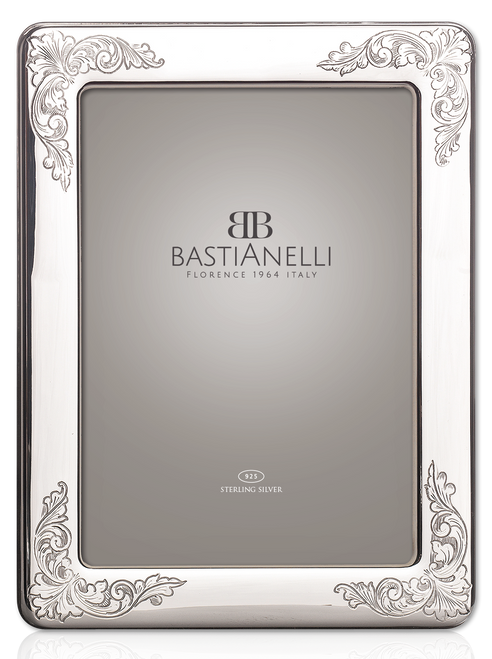 Engravable Bastianelli 'Incisa' 8x10 Sterling Silver Picture Frame