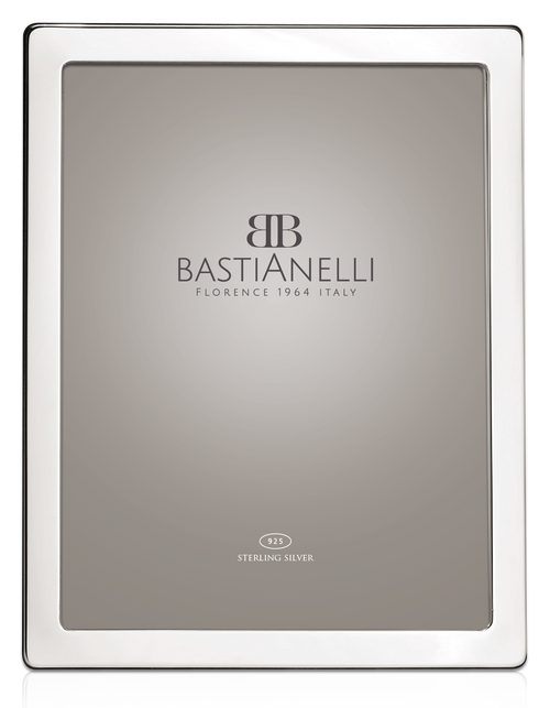 Engravable Bastianelli 'Liscia Flat' 8x10 Sterling Silver Picture Frame