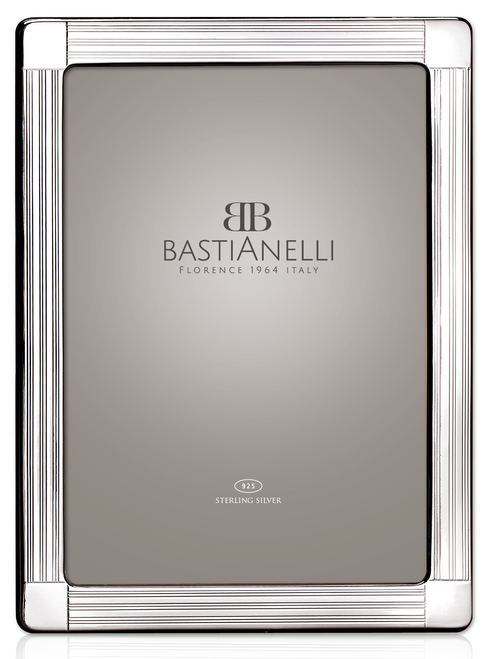 Bastianelli 'Guilloche' 4x6 Sterling Silver Picture Frame