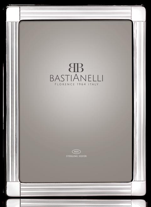 Bastianelli 'Guilloche' 5x7 Sterling Silver Picture Frame