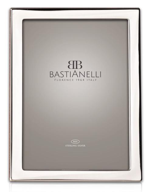 Engravable Bastianelli 'Quadra' 4x6 Sterling Silver Picture Frame