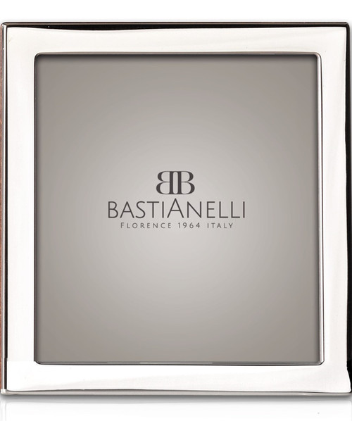 Engravable Bastianelli 'Quadra' 5x5 Sterling Silver Picture Frame
