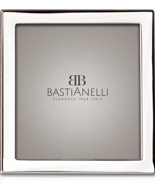 Engravable Bastianelli 'Quadra' 5x5 Sterling Silver Picture Frame