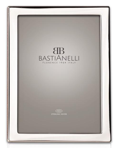 Engravable Bastianelli 'Quadra' 8x10 Sterling Silver Picture Frame