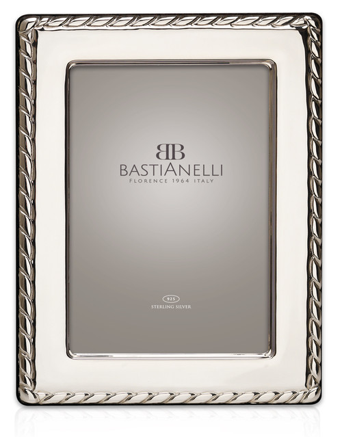 Bastianelli 'Corda' 4x6 Sterling Silver Picture Frame