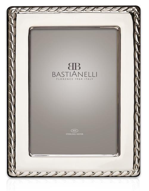 Bastianelli 'Corda' 5x7 Sterling Silver Picture Frame