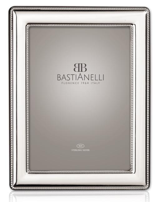 Bastianelli 'Perlinata' 4x6 Sterling Silver Picture Frame