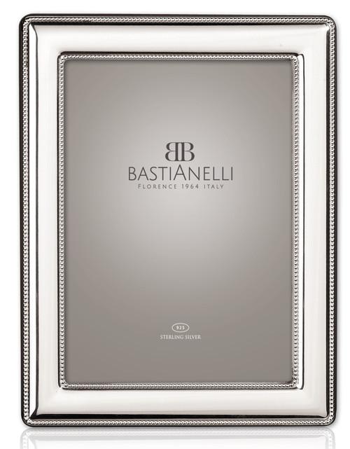 Bastianelli 'Perlinata' 5x7 Sterling Silver Picture Frame