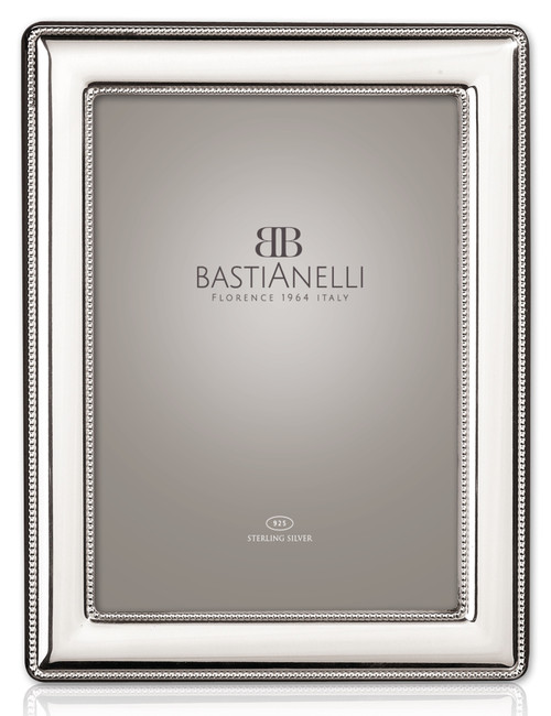 Bastianelli 'Perlinata' 8x10 Sterling Silver Picture Frame