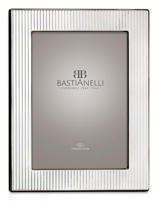 Bastianelli 'Gessato' 3.5x5 Sterling Silver Picture Frame