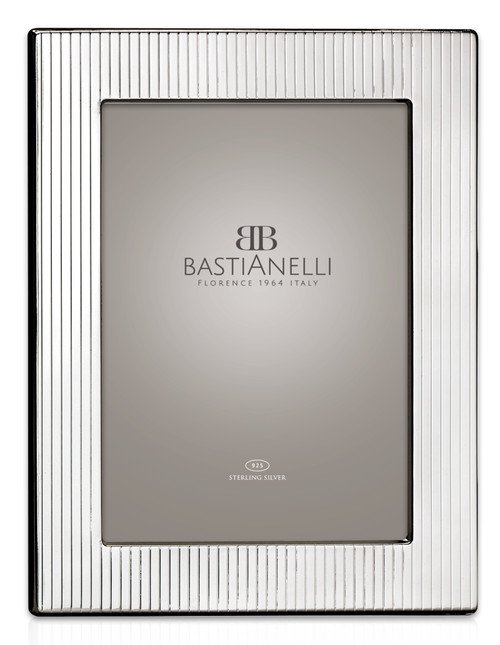 Bastianelli 'Gessato' 5x7 Sterling Silver Picture Frame